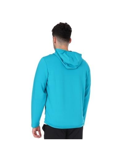 Sportive Spo-Polrunkap Erkek Mavi Koşu Sweatshirt 711359-Tur Mavi